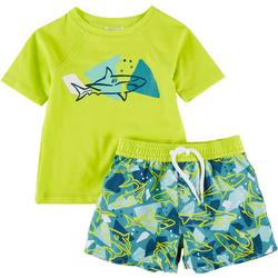 Toddler Boys 2-pc. Shark Rashguard Set