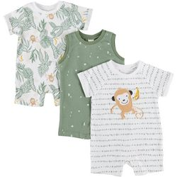 PL Baby Baby Boys 3-pc. Jungle Romper Set
