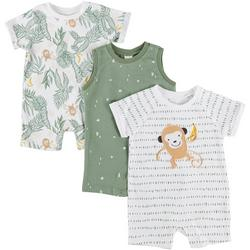 Baby Boys 3-pc. Jungle Romper Set