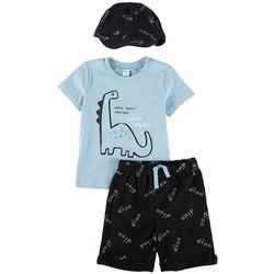 PL Baby Baby Boys 3-pc. Dinosaur Short Set