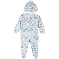 PL Baby Baby Boys 2-pc. Whale Print Pajama Set