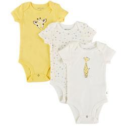 Baby Boys 3-pk. Giraffe Bodysuit Set