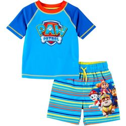 Paw Patrol Toddler Boys 2-pc. Paw Patrol Team Rashguard Set