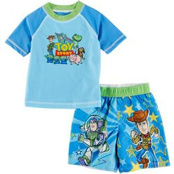 Baby Boys 2-pc. Character Rashguard Set
