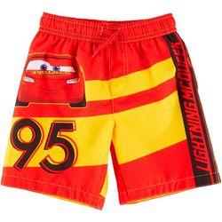 Cars Toddler Boys Lightning McQueen Swim Shorts
