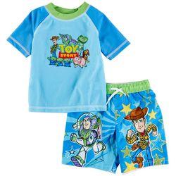 Toy Story Toddler Boys 2-pc. Buzz & Woody Rashguard Set