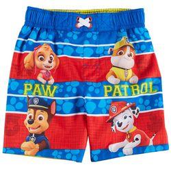 Paw Patrol Toddler Boys Striped Swim S