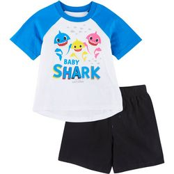 Baby Shark Toddler Boys Singing Shorts Set