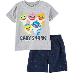 Baby Shark Toddler Boys 2-pc. Baby Shark Short Set