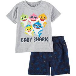 Toddler Boys 2-pc. Baby Shark Short Set