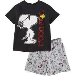 Snoopy Baby Boys Joe Cool Shorts Set