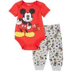 Disney Baby Boys Short Sleeve Mickey Mouse Bodysuit Set