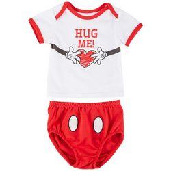 Baby Boys 2-pc. Mickey Mouse Hug Me set