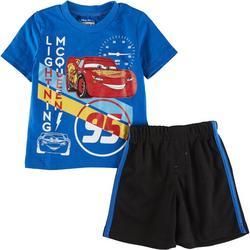 Disney Cars Baby Boys 2-pc. Lightning McQueen Short Set