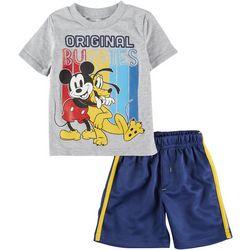Mickey Mouse Toddler Boys 2-pc. Original Buddies Short Set