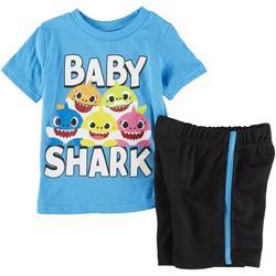 Toddler Boys 2-pc. Baby Shark Family Short Set