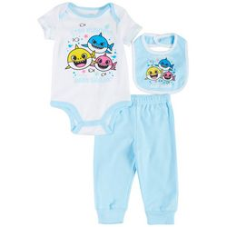 Baby Shark Baby Boys 3-pc. Stay Hungry Jogger Pants Set