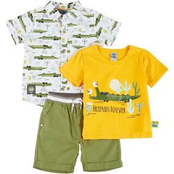 Little Lad Toddler Boys 3-pc. Friends Forever Shorts Set