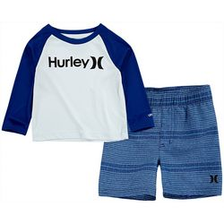 Hurley Baby Boys 2-pc. UV Boardshort Set