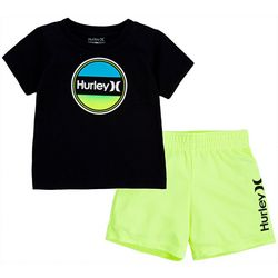 Hurley Toddler Boys 2-pc. Graphic Logo Mesh Shorts Set