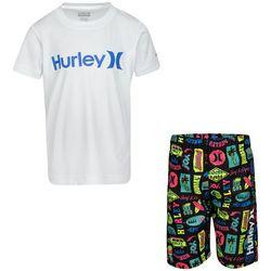 Hurley Toddler Boys 2-pc. Surf & Enjoy Rashguard Set