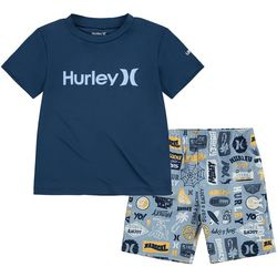 Hurley Toddler Boys 2-pc. Surf & Enjoy Rashguard