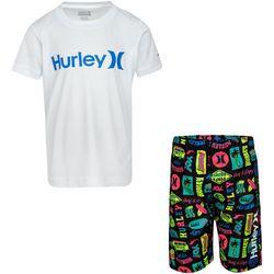 Hurley Baby Boys 2-pc. Surf & Enjoy Rashguard
