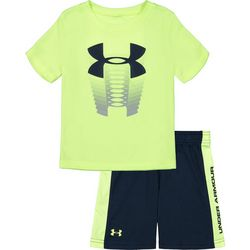 Under Armour Toddler Boys 2-pc. Rising Logo Shorts Set