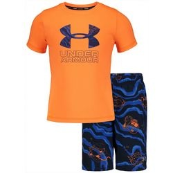 Under Armour Toddler Boys Fish Volley Swim Short Set