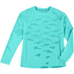 Toddler Boys Water Reactive Shark Rashguard