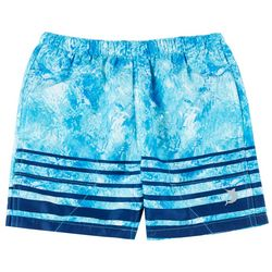 Reel Legends Toddler Boys Prism Blue Swim Shorts