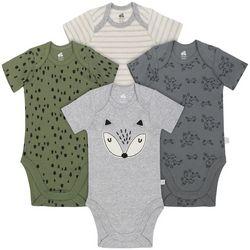 Just Born Baby Boys 4-pk. Fox Forest Bodysuits