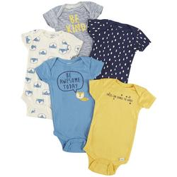 Baby Boys 5-pc. Fox Bodysuit Set