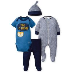 Baby Boys 4-pc. Today Is Awesome Sleep Set