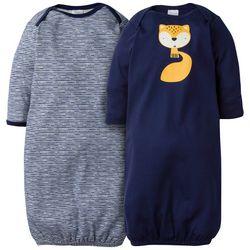 Gerber Baby Boys 2-pc. Fox Cuffed Sleep Gown
