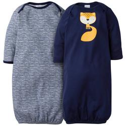 Baby Boys 2-pc. Fox Cuffed Sleep Gown Set