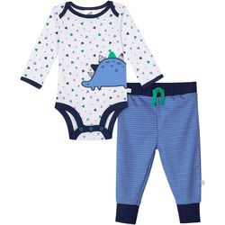 Just Born Baby Boys Organic Triangle Dino Bodysuit Set