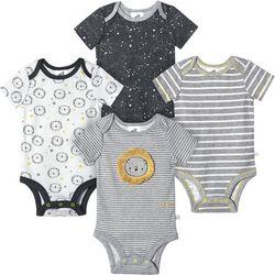 Just Born Baby Boys 4-pk. Organic Striped Lion Bodysuits