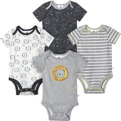 Baby Boys 4-pk. Organic Striped Lion Bodysuits