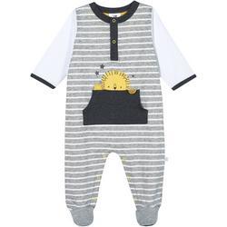Baby Boys Organic Striped Lion Footie Pajamas