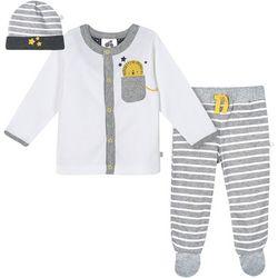 Baby Boys 3-pc. Organic Striped Lion Layette Set