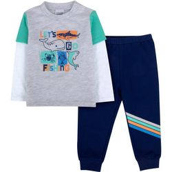Sunshine Baby Baby Boys Let's Go Fishing Top & Pants Set