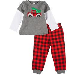 Baby Boys Xmas Plaid Jogger Pants Set