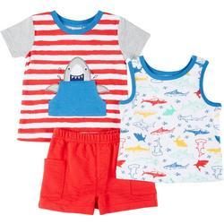 Baby Boys 3-pc. Shark Set