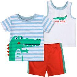 Baby Boys 3-pc. Gator Set