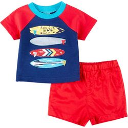 Baby Boys Short Sleeve Surfboard Shorts Set
