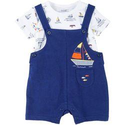Baby Boys Boat Shortalls Set