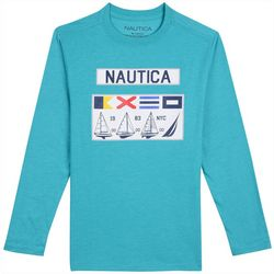 Nautica Toddler Boys Flag Billboard T-Shirt