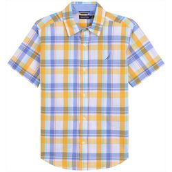 Nautica Toddler Boys Tiga Plaid Button Down Shirt