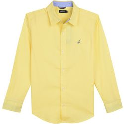 Nautica Toddler Boys Tyler Poplin Button Down Shirt